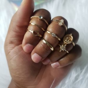 Set of 8 Stackable Rings